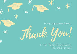 graduation thank you notes customize 26 graduation thank you card templates online canva