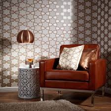 Copper Wall Decor by Arthouse Tropics Rio Geometric Wallpaper Copper U0026 Silver