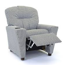 Toddler Recliner Chair Child U0027s Recliner Chair In Houndstooth Kids Recliners