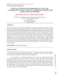 Mutual Fund Accountant Mutual Fund Financial Performance Analysis A Comparative Study On