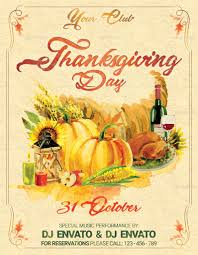 123 greeting cards thanksgiving thanksgiving day vintage party flyer by oloreon graphicriver