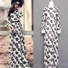 turmec maxi dress long sleeve casual
