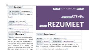 Edit Resume Template Word Peckham Free Resume Cv Template Rezumeet Com