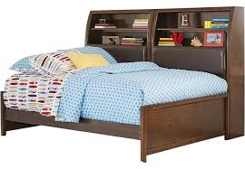 Daybed With Bookcase Santa Cruz Cherry 5 Pc Full Bookcase Daybed Daybeds Dark Wood