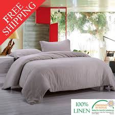 Linen Bedding Sets Washed 100 Linen Bedding Set Incluidng 1 Duvet Cover And 2