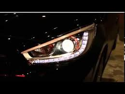 led halo headlight accent lights projector headlights for hyundai accent solaris youtube