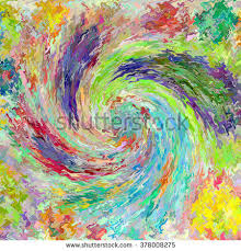 Paper Backdrops Colorful Abstract Spiral Pattern Print Design Stock Illustration