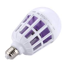 insect killer light bulb e27 15w white light 365 nm purple light fly pest insects reject