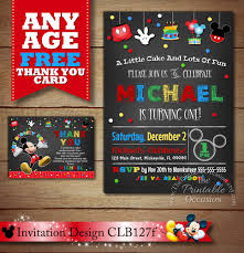 Mickey Mouse Invitation Cards Printable Mickey Mouse Birthday Invitations Mickey Mouse Birthday