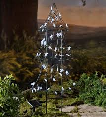 lighted christmas tree wind weather solar led lighted christmas tree reviews wayfair
