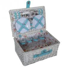 bentley explorer white willow picnic basket for four picnicshop