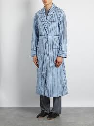 robe de chambre homme derek robe de chambre en coton é mayfair bleu clair blanc et