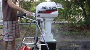 1996 johnson 6hp longshaft tiller outboard motor youtube