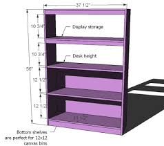 Purple Bookcase Ana White What Goes Under The Loft Bed How About A Big Bookcase