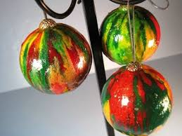 melted ornaments featuring miriam