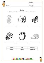 fruits worksheets matching worksheets for kindergarten printable