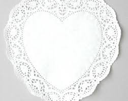 heart shaped doilies paper heart doilies etsy