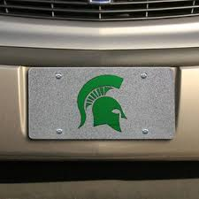 msu alumni license plate frame michigan state spartans auto accessories michigan state car