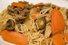 cuisiner viande à fondue spaghetti espagnol doumdoum se régale