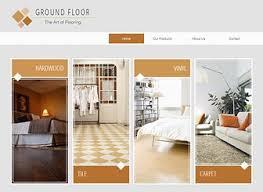 flooring company website template wix