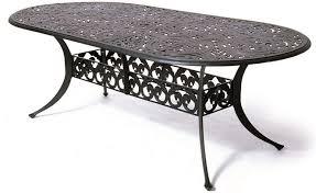 oval aluminum patio table chateau by hanamint luxury cast aluminum patio furniture 42 x 84