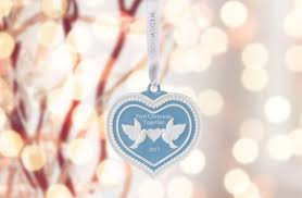 wedgwood 2017 our 1st christmas blue ornament