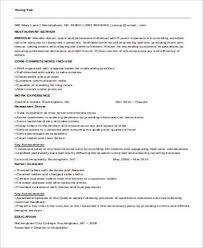 Server Resumes Samples by 100 Serving Resume Template Server Resume Samples Server Resume
