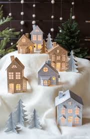 45 diy paper u0026 cardboard christmas decoration christmas villages