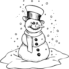 magnificent winter printable snowman coloring pages with free