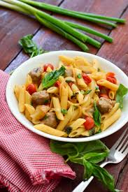 roasted cherry tomato penne with sausage and basil the lemon press