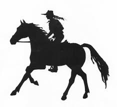 mustang horse silhouette silhouette of riding horse by sophieneville on deviantart