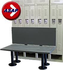 ada plastic locker room bench with back support and choice of