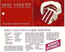 original red velvet recipe card make the cake that your