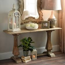 Living Room Wall Table Distressed Pedestal Console Table Kirklands