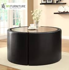 Round Dining Table With Hidden Chairs Round Hideaway Kitchen Table Of With Glass Dining And Chair Set