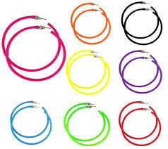 80s hoop earrings 80s style earrings neon accessories redstar fancy dress