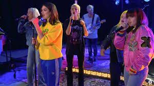 dua lipa jesus christ dua lipa charli xcx more perform idgaf for bbc radio 1 live