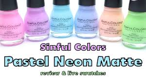 sinful colors pastel neon mattes review and live swatches youtube