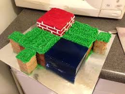 cool minecraft cake that is easy to do and will please the most