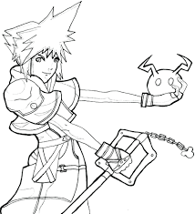kingdom hearts coloring pages stained glass 2 free printable