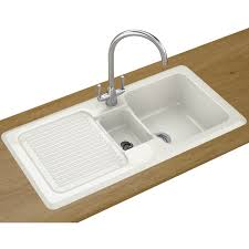 White Ceramic Kitchen Sink 1 5 Bowl Franke Vbk 651 Ceramic Left Drainer 1 5 Bowl White Inset Sink