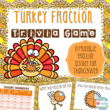 thanksgiving fractions area and circumference and punny cards