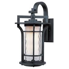 Fluorescent Wall Sconce Maxim Lighting Oakville Ee 1 Light Black Oxide Outdoor Wall Sconce