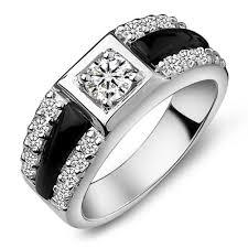 diamond men rings images Jpf black onyx diamond cluster ring 925 sterling silver rings jpg