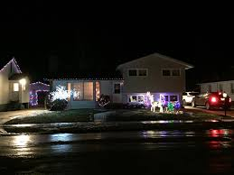 2 story christmas lights elrose residents light up the town for the holidays
