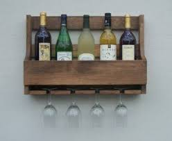 rustic wall wine rack wall mounted wine rack with gl holder foter