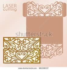Wedding Template Invitation Laser Cut Invitation Card Laser Cutting Stock Vector 432857557