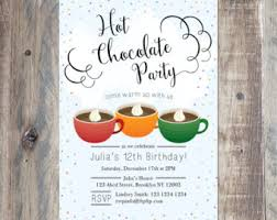 cocoa chalkboard invitation chocolate coffee