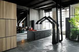 loft design milan loft design with dark industrial metals in decor digsdigs