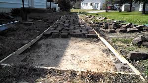 cheap diy brick path update1 youtube